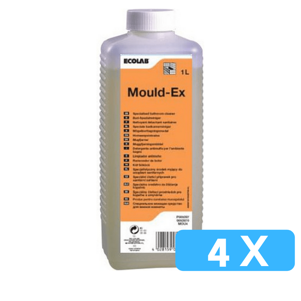 Ecolab mould-ex schimmelverwijderaar 4 x 1 liter