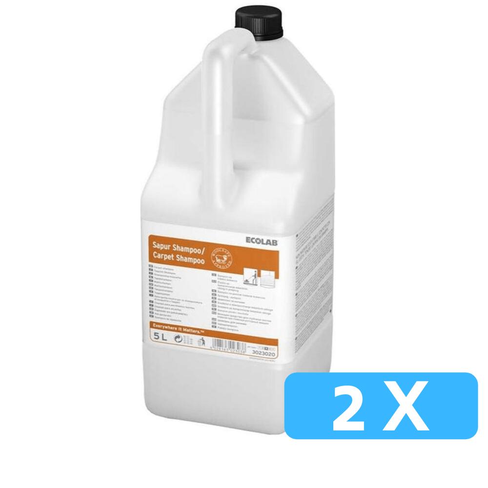 Ecolab Sapur Carpet Shampoo Tapijtreiniger 2 x 5 liter