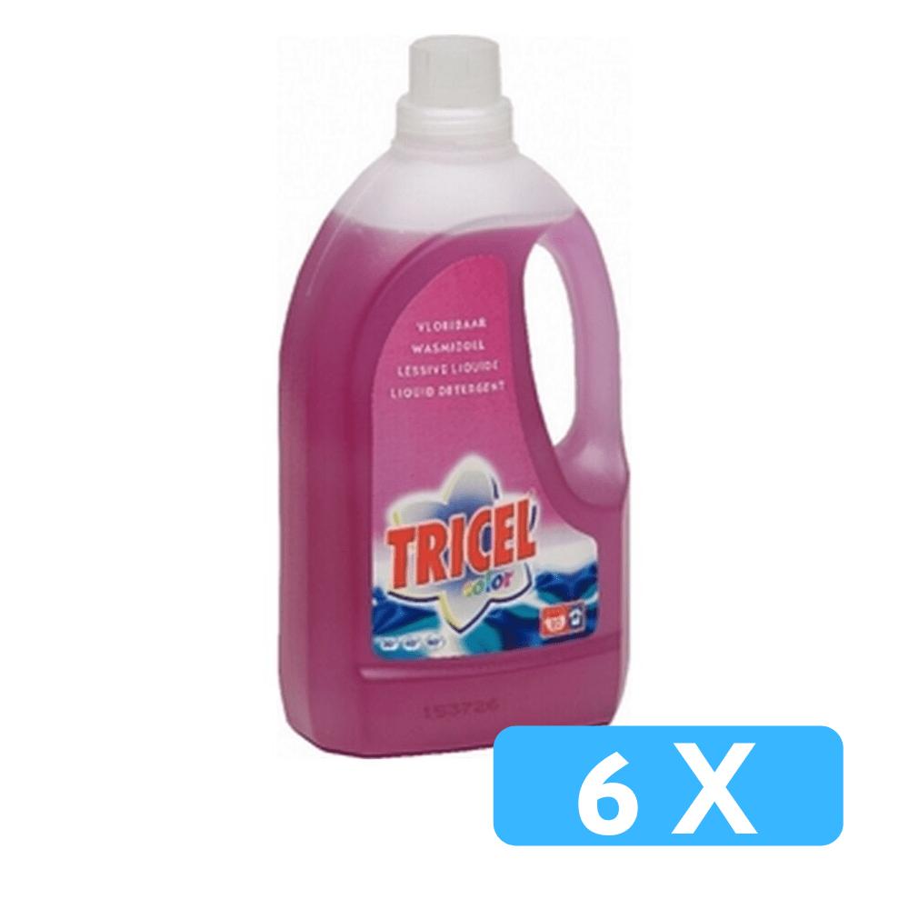 tricel color vloeibaar wasmiddel 6 x 1,5 liter