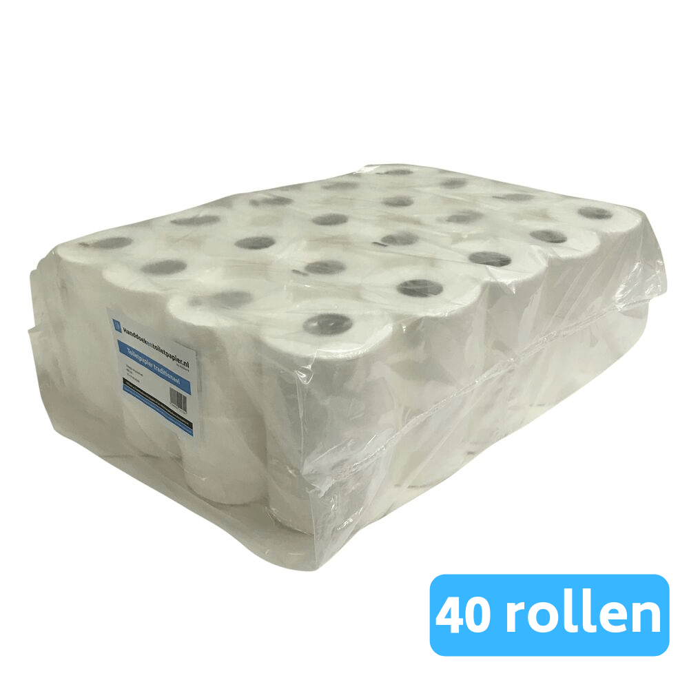 4UStore | Toiletpapier | Recycled tissue 2-laags | 40 rollen