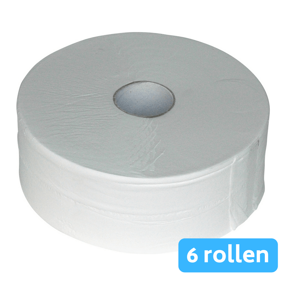 Euro Products | Toiletpapier 2-laags cellulose | Maxi jumbo | 6 x 380 meter