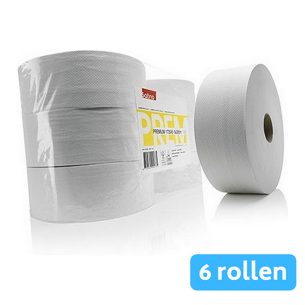 Satino | Premium toiletpapier 2-laags | Maxi jumbo | 6x380 meter