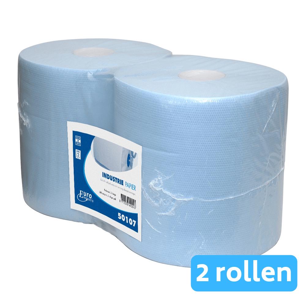 Euro Products | Industriepapier | Blauw verlijmd 2-laags | 2 x 190 meter
