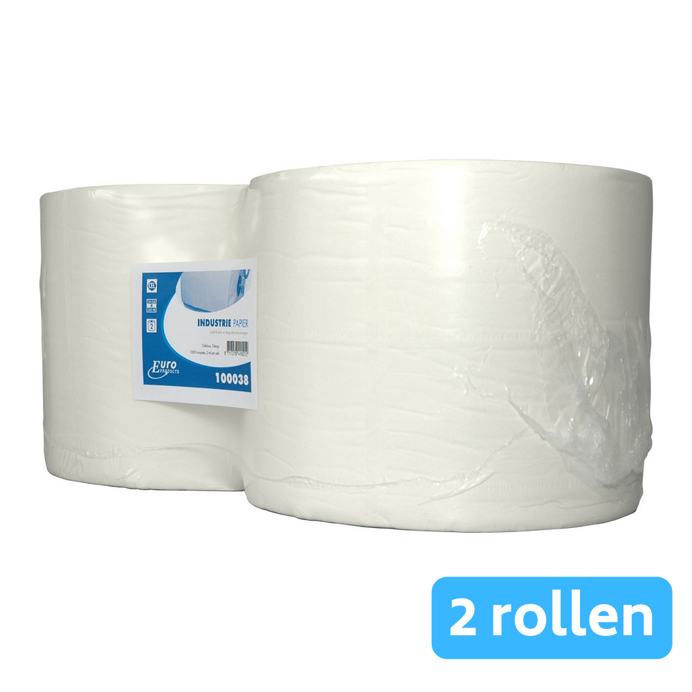 Industriepapier cellulose zwaar 2-laags 2 x 380 meter