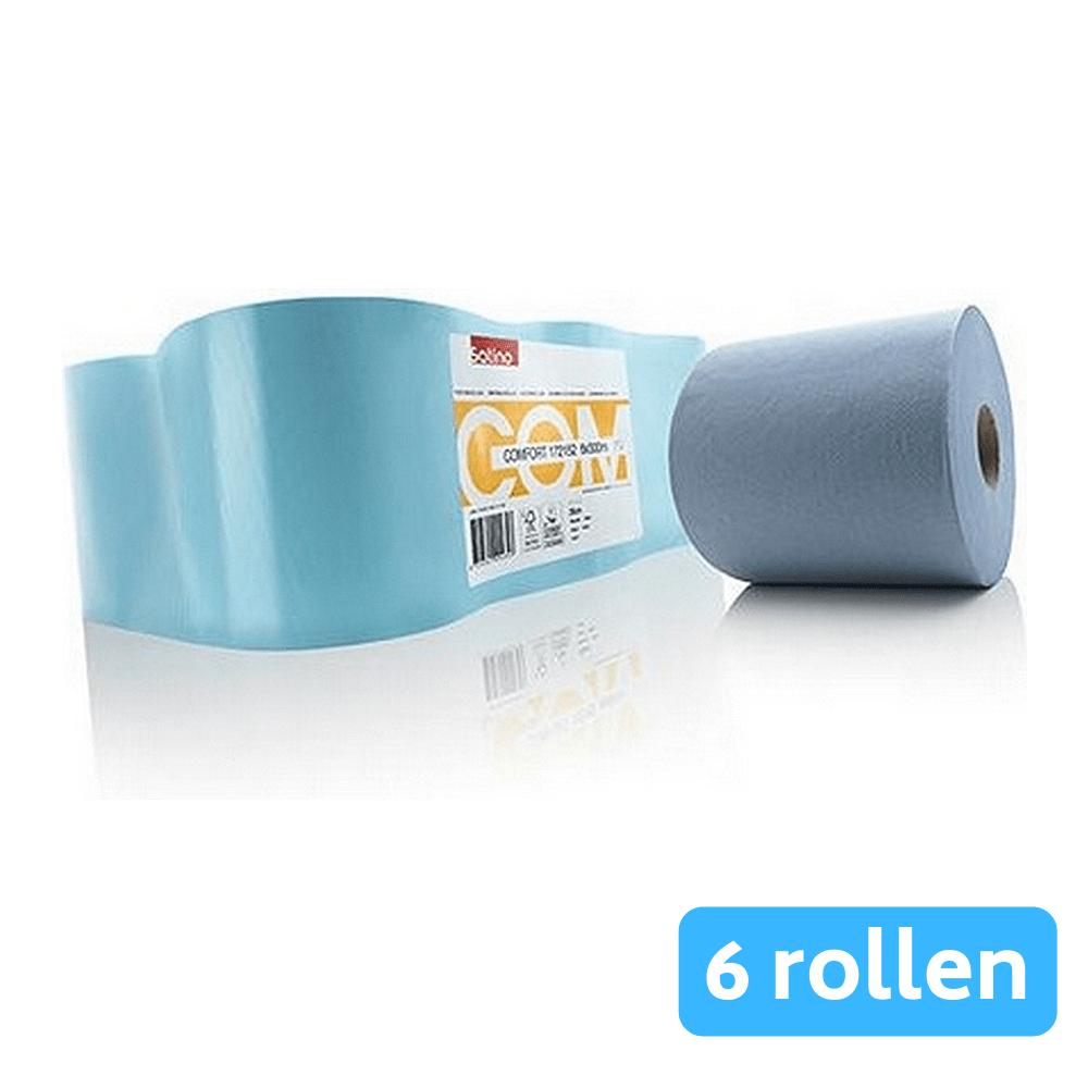 Satino | Midirol comfort blauw 1-laags | 6 x 300 meter