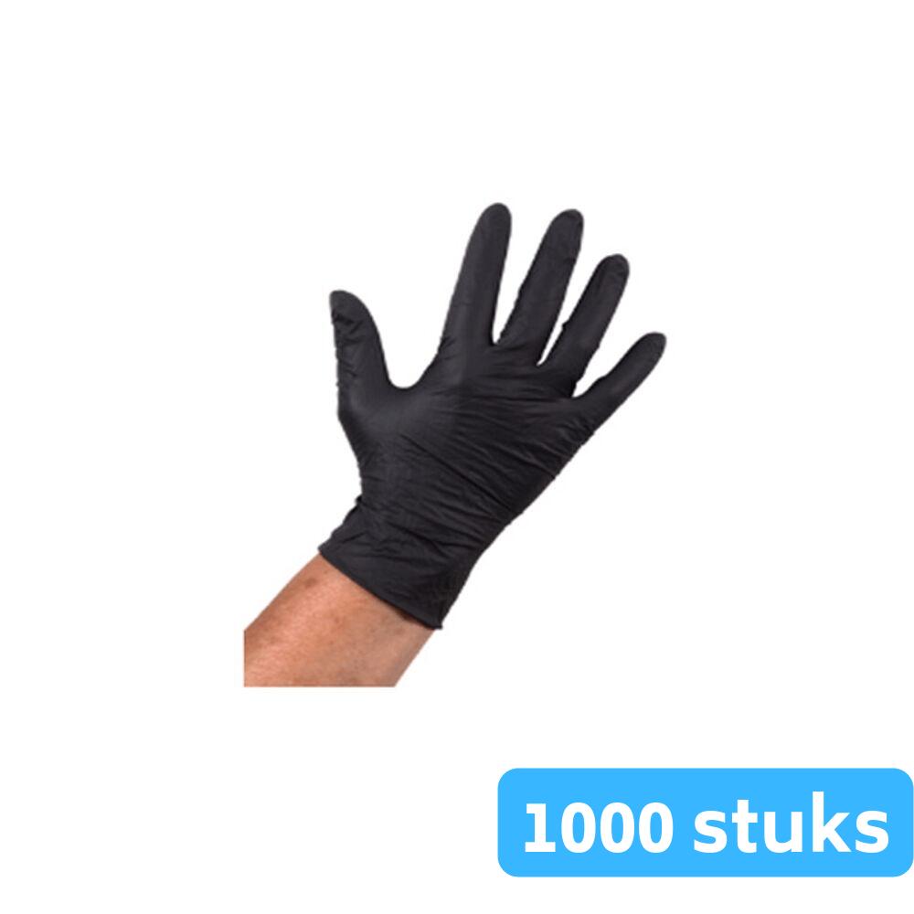 Handschoen nitril zwart ongepoederd M 10 x 100 stuks