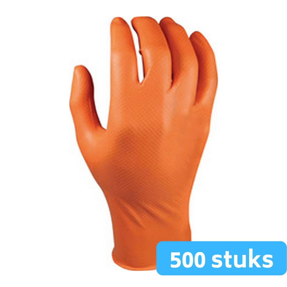 M-safe nitril grippaz maat 7 handschoenen 10 x 50 stuks