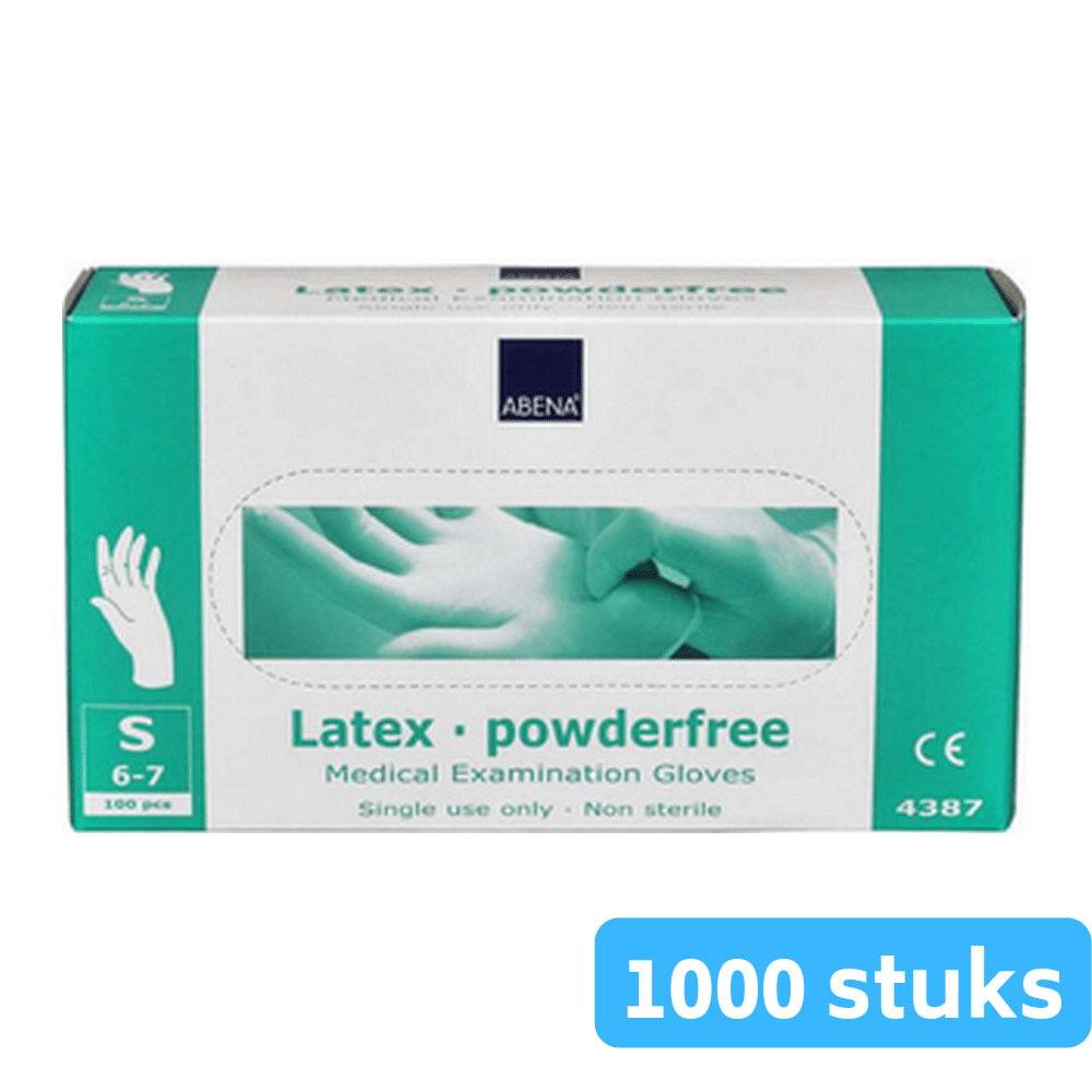 Handschoen vinyl blauw poedervrij small 10 x 100 handschoenen