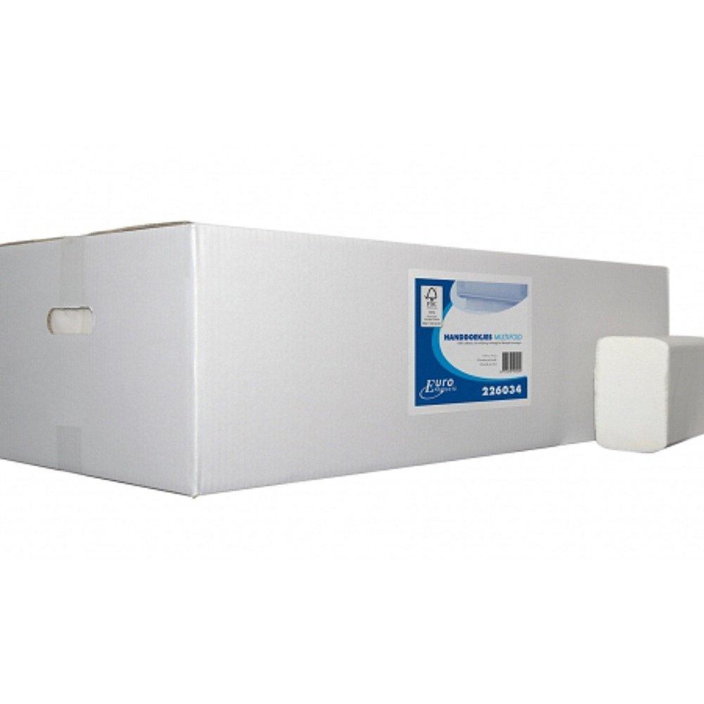 Euro Products Vouwhanddoekjes 2-laags Multifolded 32 x 21 cm 3000 stuks