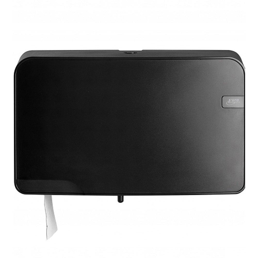 Quartz Mini Jumbo Duo Toiletrolhouder zwart