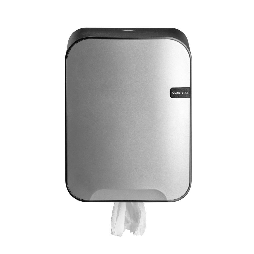 Combodeal | Euro Products Quartz Midirol Dispenser & 4UStore Midirollen 2-laags 6 x 150 meter | Zilver