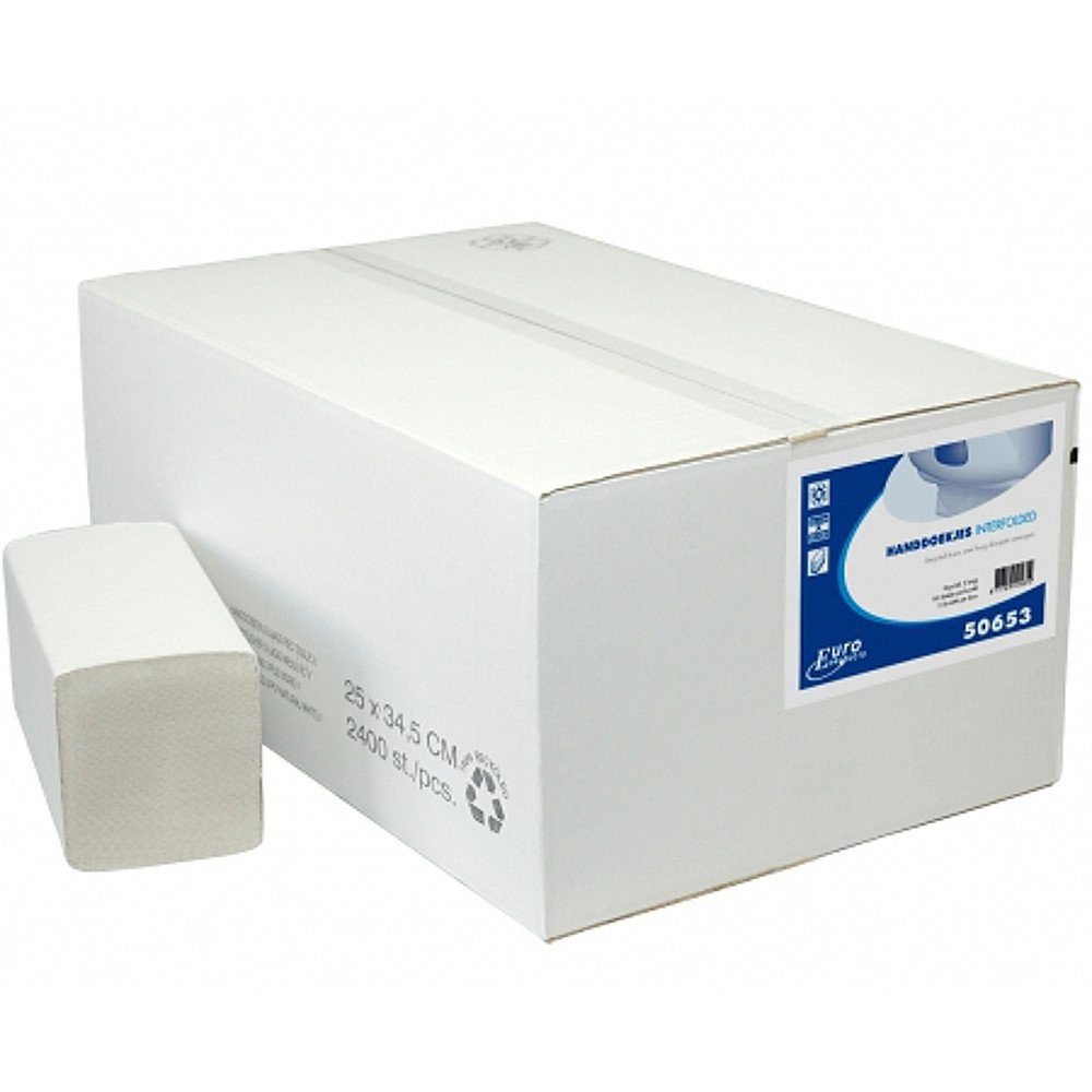 Euro Products Interfold recycled tissue 2400 doekjes