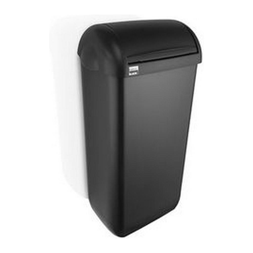 Satino Black afvalbak 23 liter zwart 180269