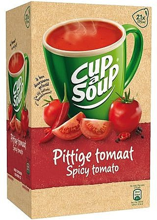 Unox | Cup-a-Soup | Spicy tomaat | 175 ml | Doos 21 stuks