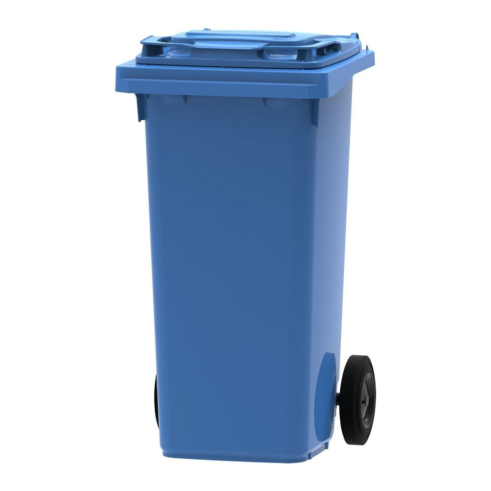 Mini rolcontainer 120 liter blauw