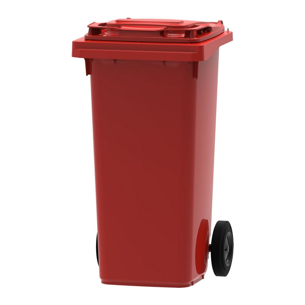 Mini rolcontainer 120 liter rood