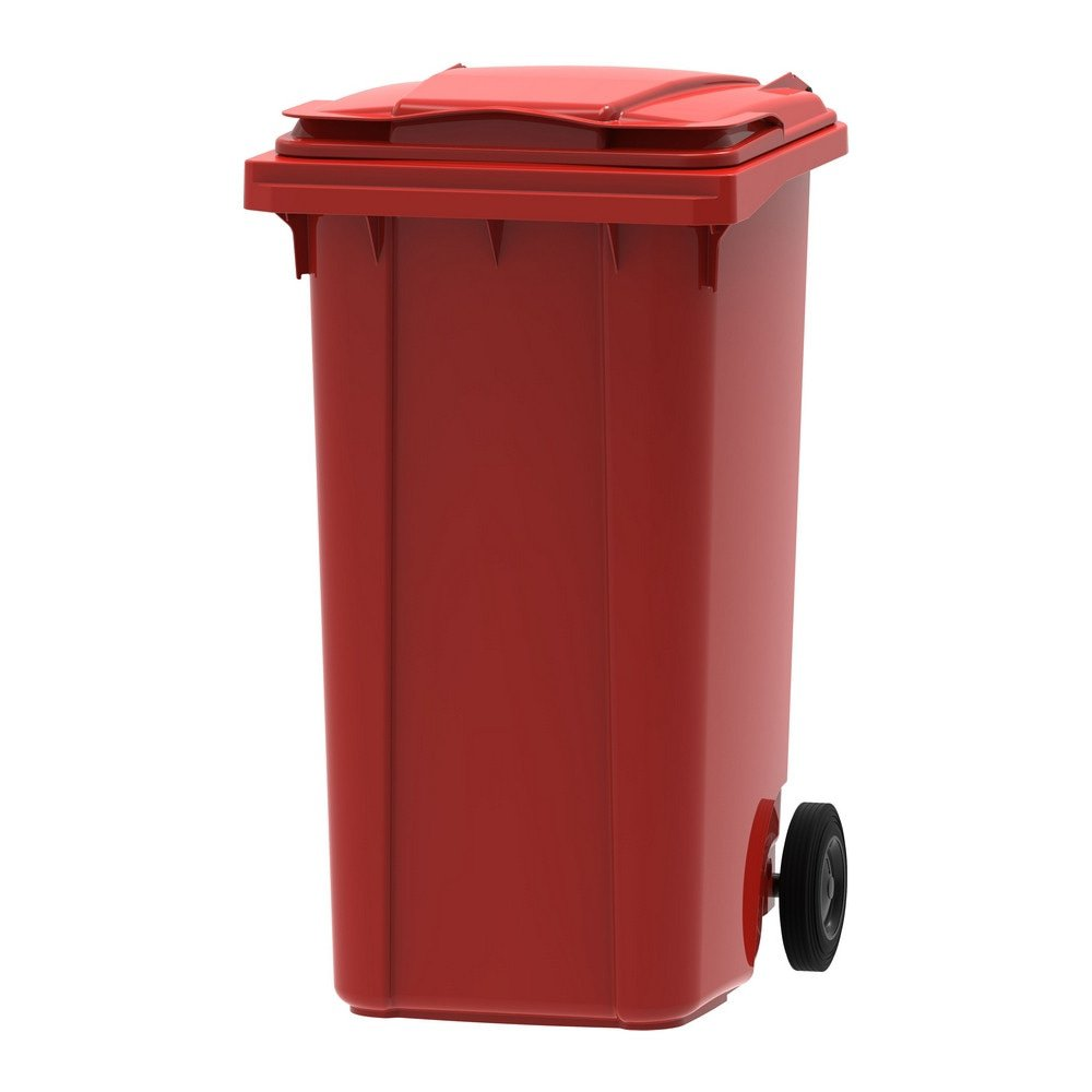 Mini rolcontainer 240 liter rood