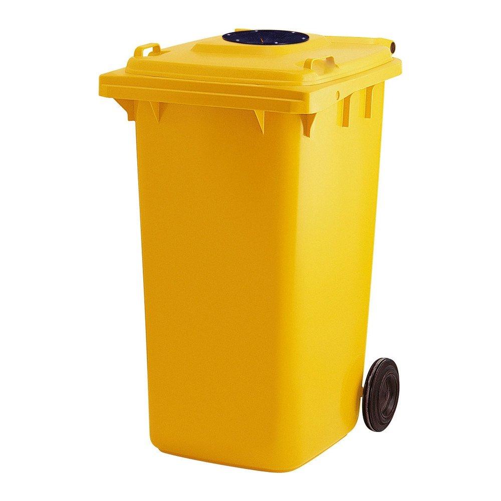Container met glasrozet geel
