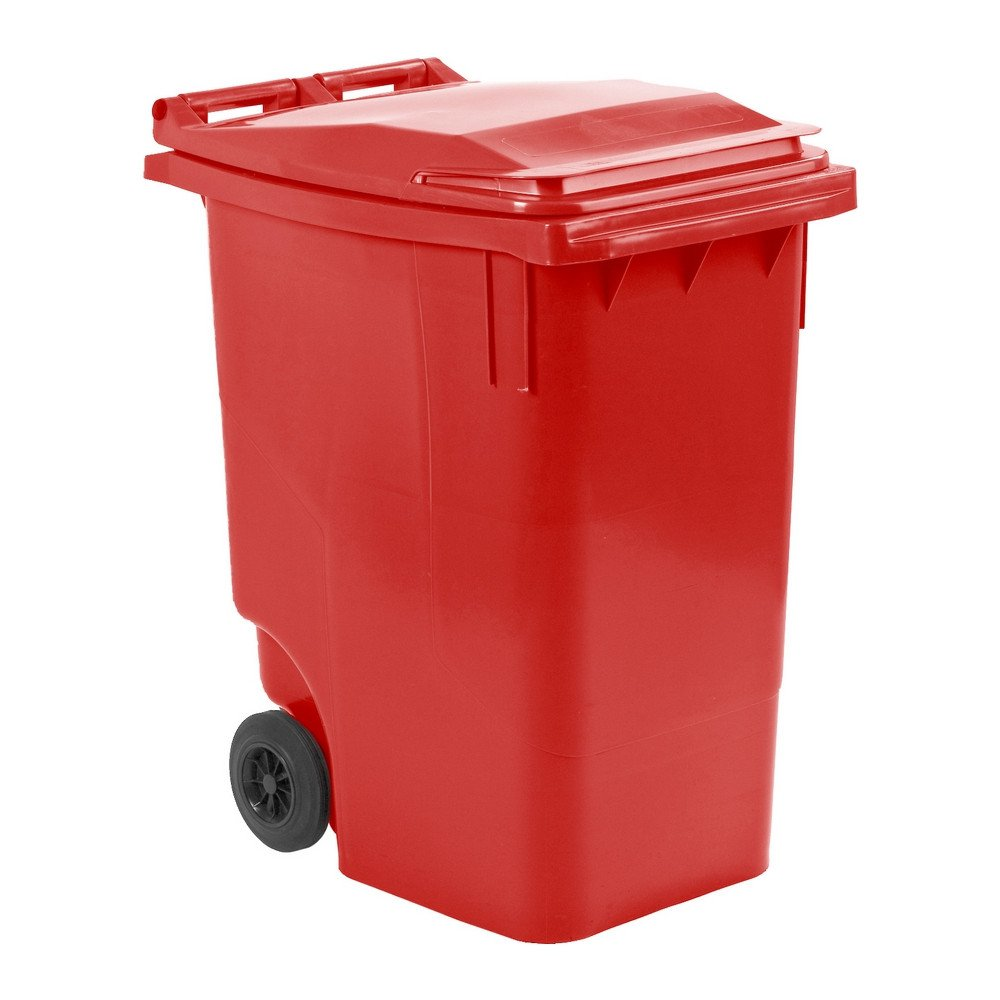 Mini rolcontainer 360 liter rood