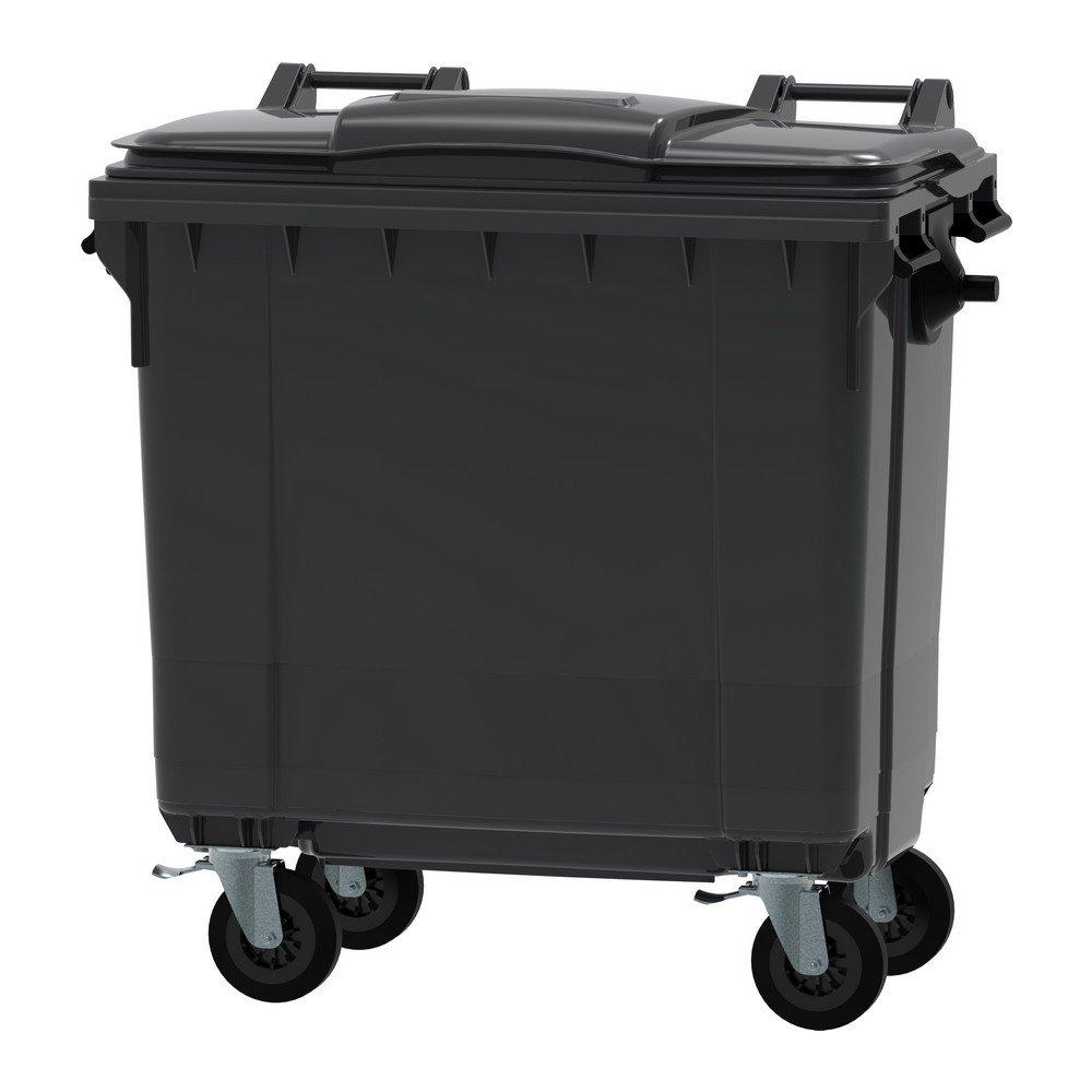 Kunststof container | Grijs/zwart | Inhoud: 770 liter