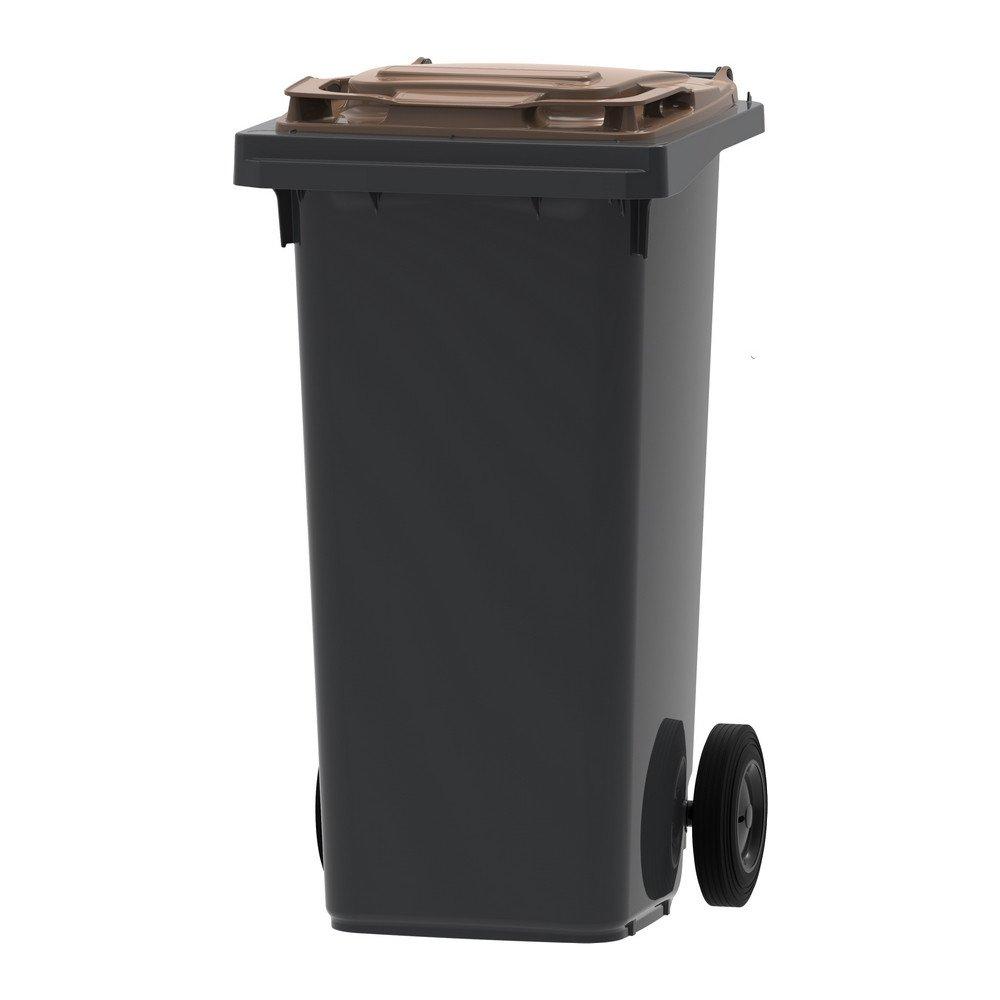 Mini-container | Grijs/bruin | Inhoud: 120 liter