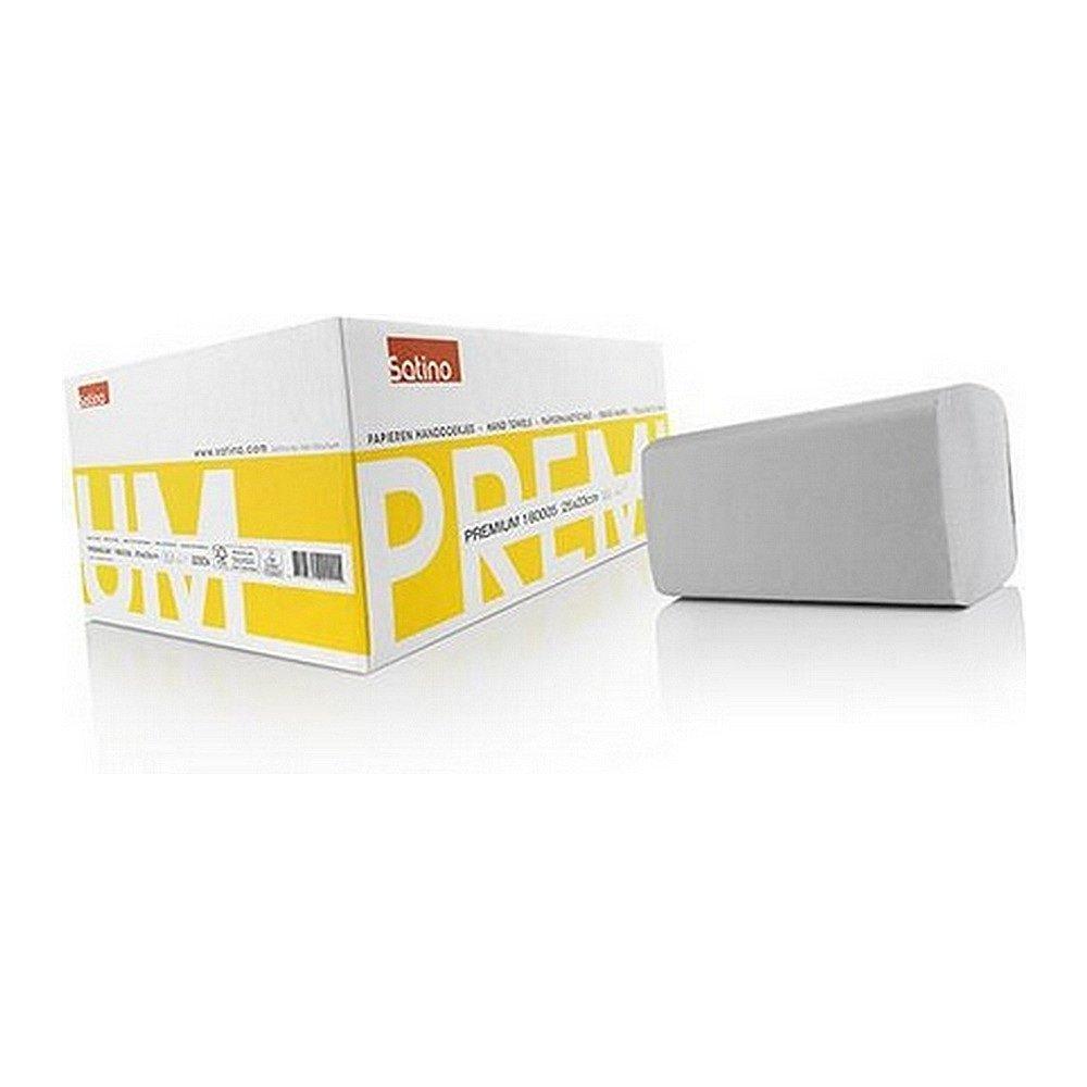 Satino vouwhanddoekjes 160005 2-laags ZZ-vouw wit 23 x 25cm 3200 stuks