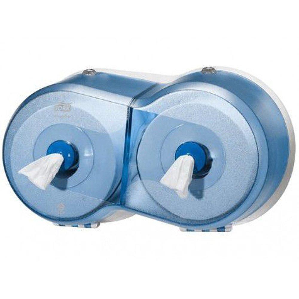 Tork Smartone T9 Twin Mini Toiletpapierdispenser blauw