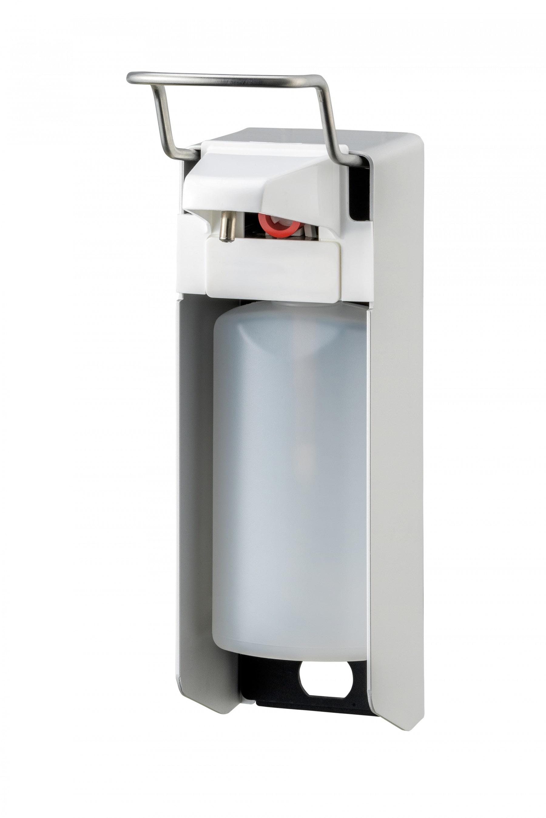 MediQoline | Zeep- & desinfectiemiddeldispenser | Aluminium | 500 ml