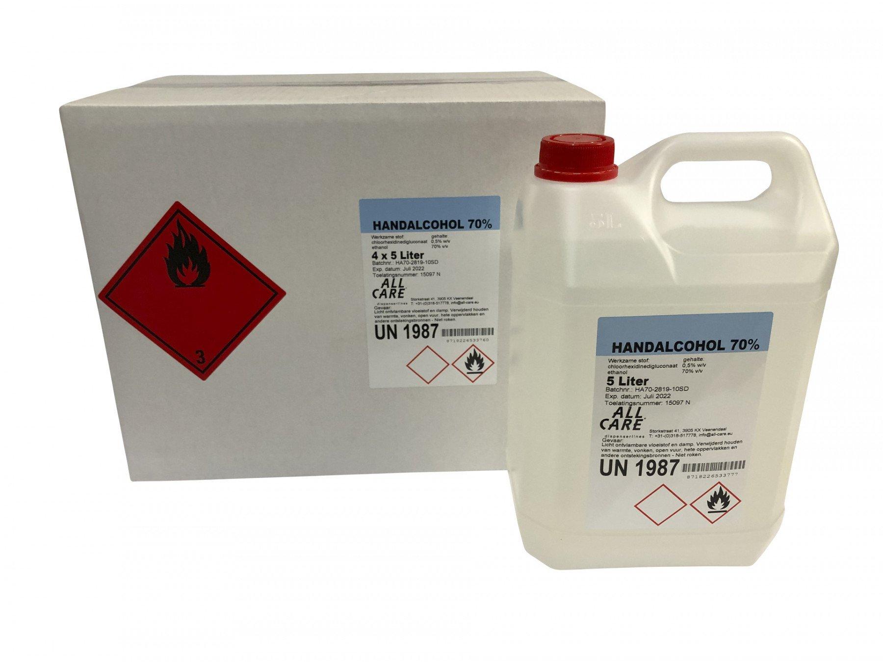 All Care | Handalcohol 70% | Gevoelige Huid | Jerrycan 5 liter