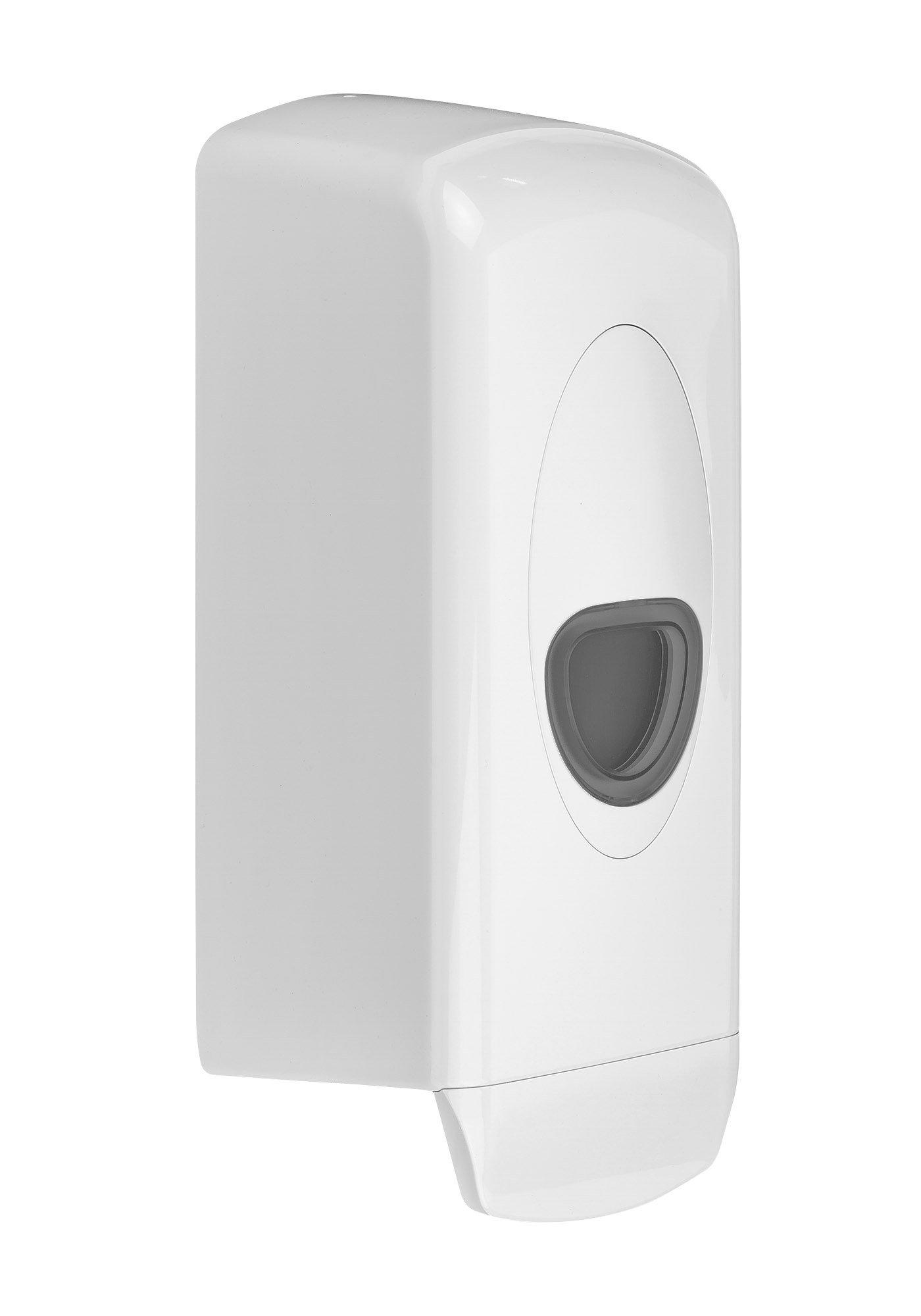 Plastiqline | Navulbare zeepdispenser | 1000 ml | Kunststof | Wit