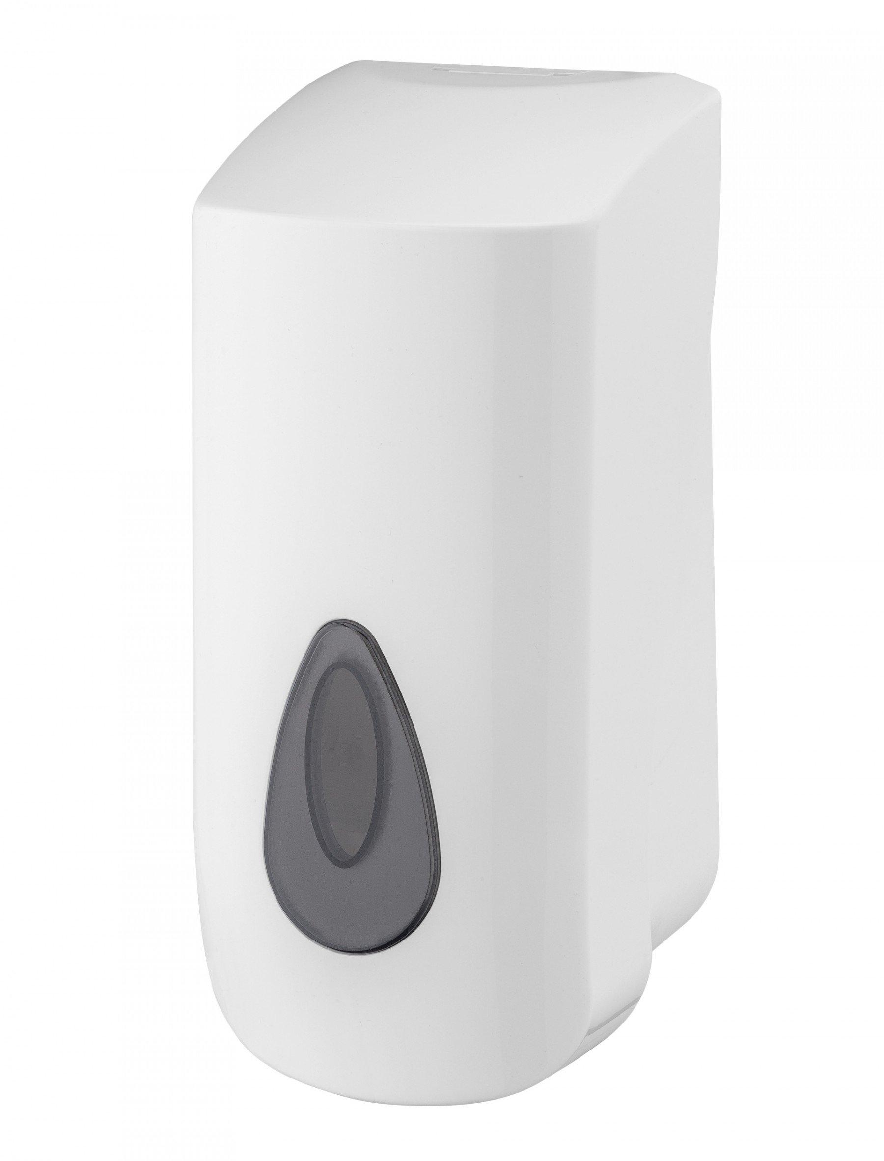 PlastiQline zeepdispenser zelf navulbaar 900 ml kunststof wit