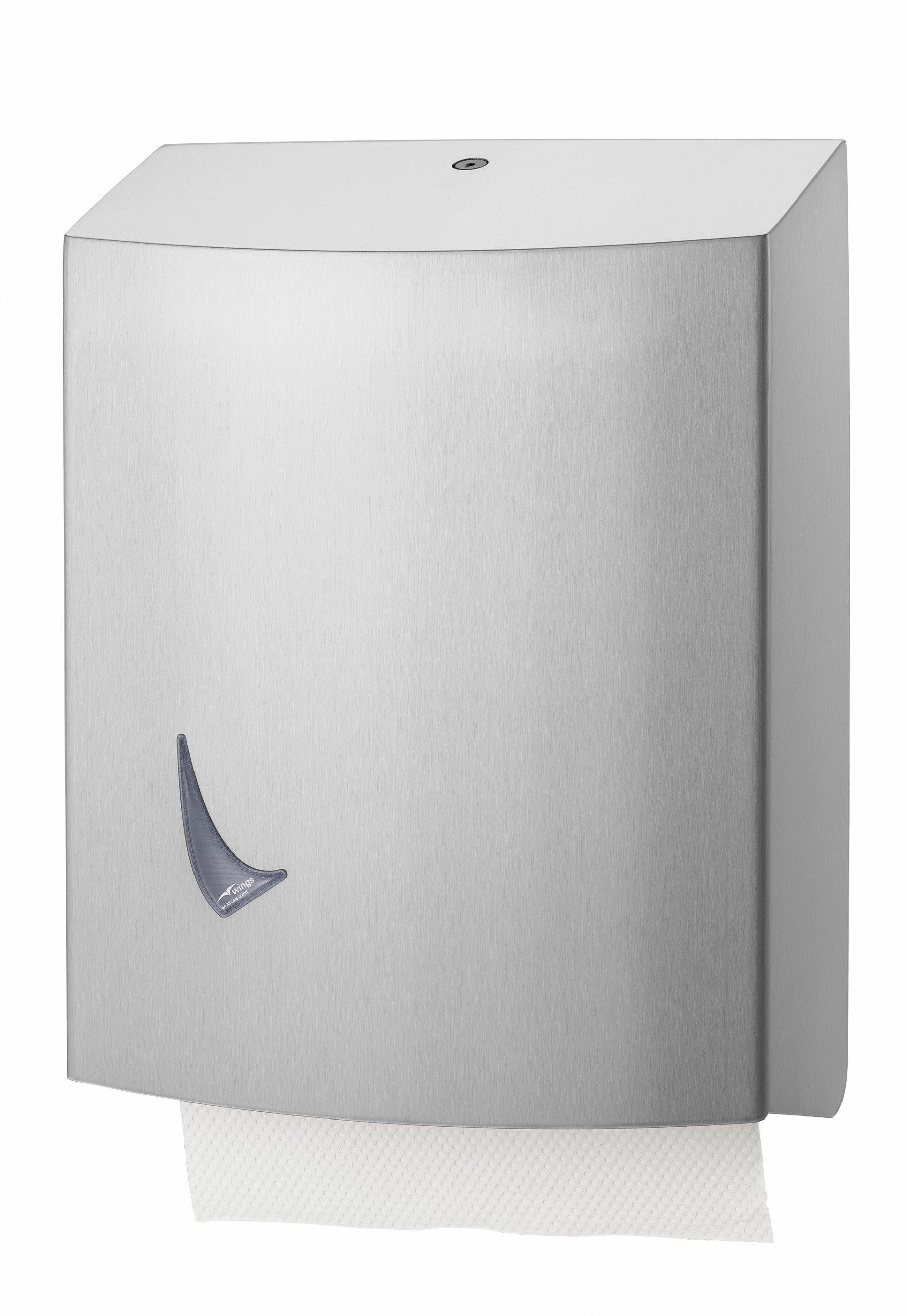 Wings | Handdoekdispenser | Groot | RVS
