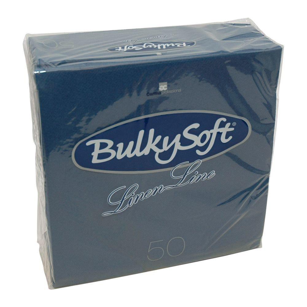 Bulkysoft Airlaid servetten blauw 40x40cm kwart vouw 500 stuks
