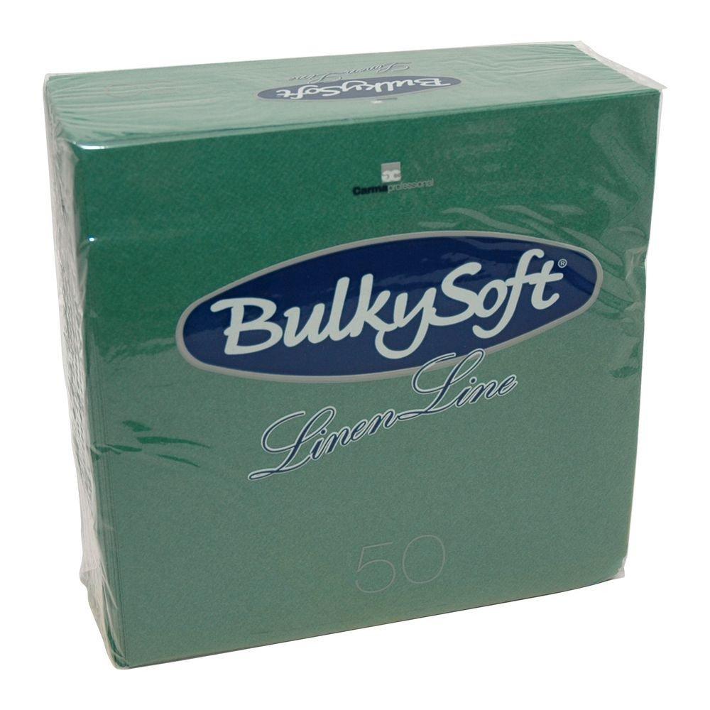 Bulkysoft Airlaid servetten groen 40x40cm kwart vouw 500 stuks