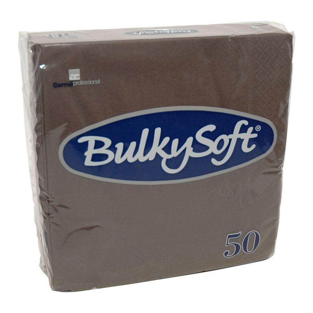 Bulkysoft Servetten 2-lgs kleur bruin 33x33cm 1200 stuks