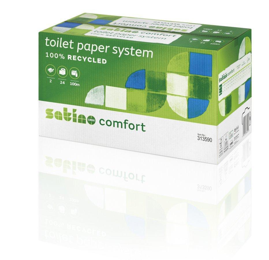 Satino Comfort | Toiletpapier | 2-laags | Doprol | 24 x 100 meter