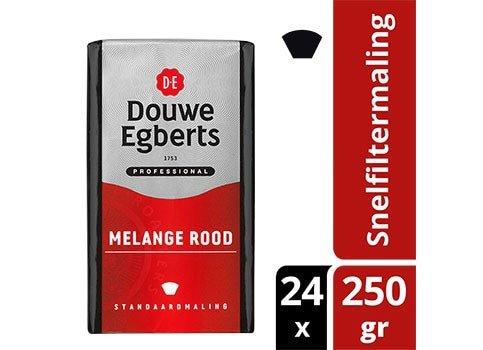 Douwe Egberts Melange Rood snelfilter 24 x 250 gram