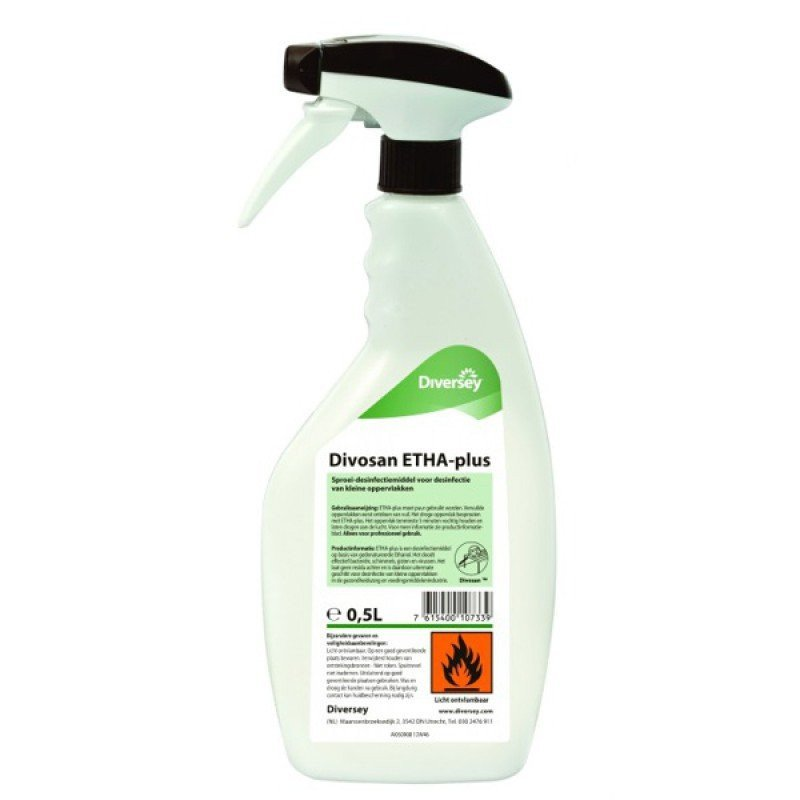 Divosan | ETHA-plus | Desinfectie 77% | Spray 6 x 750 ml