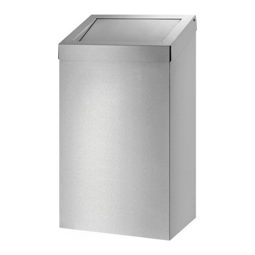 Dutch Bins afvalbak | 50 liter | Gesloten | Kleur: RVS