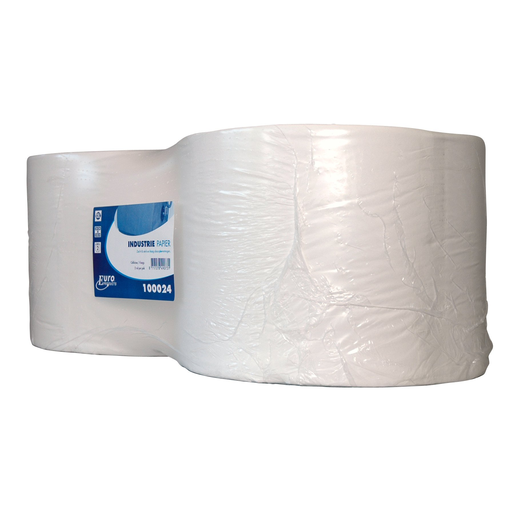 Euro Products | Industriepapier | Cellulose 1-laags | 2 x 1000 meter