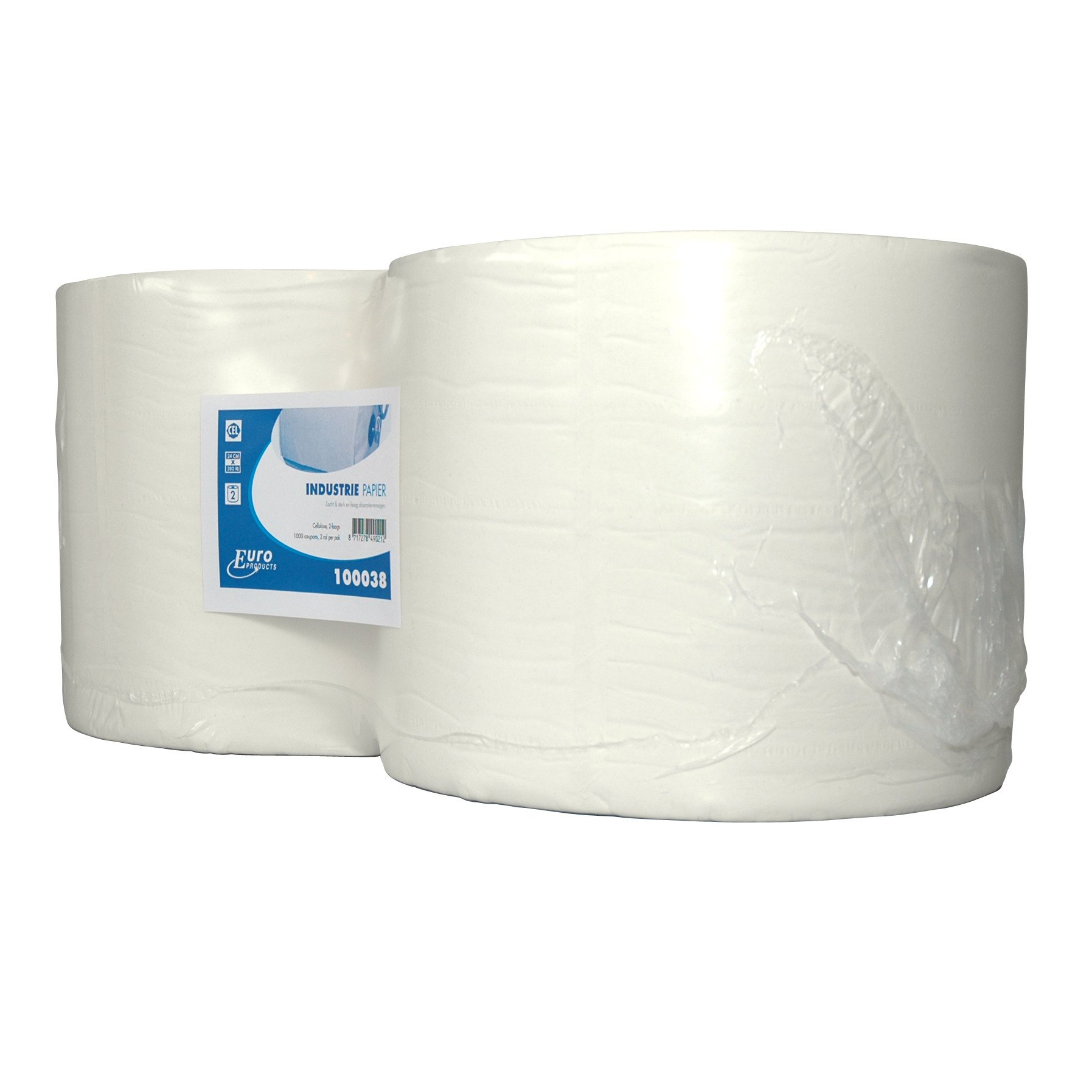 Euro Products | Industriepapier | Cellulose 2-laags | 2 x 380 meter