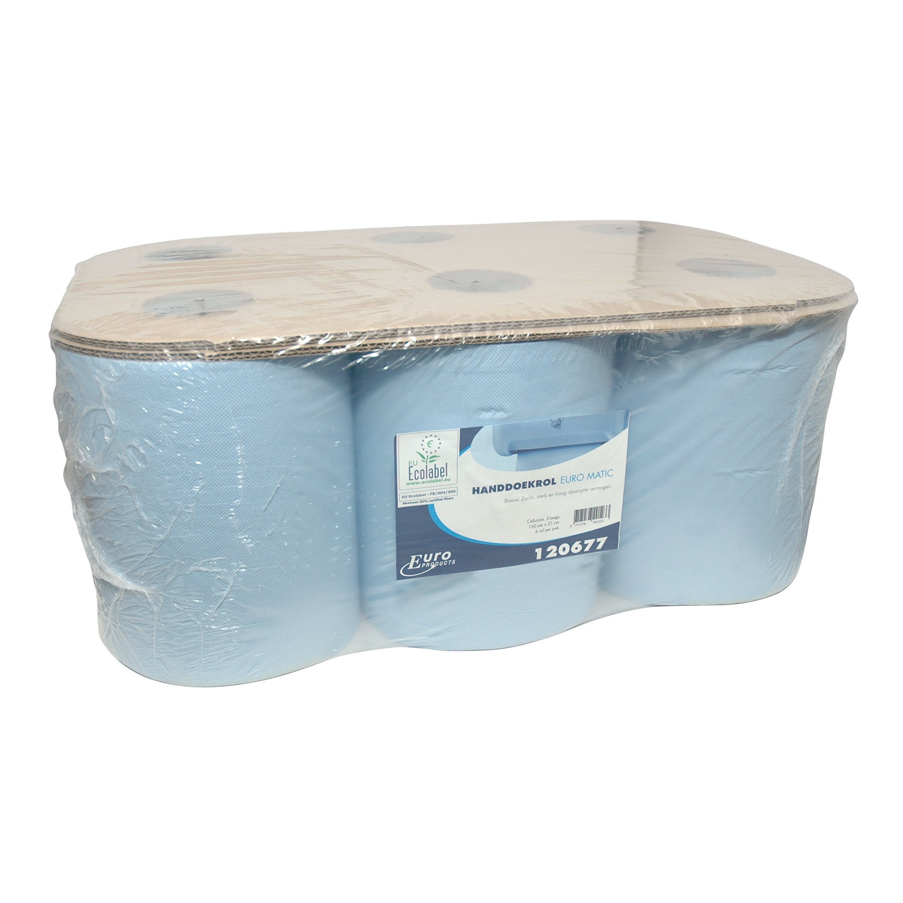 Euro Products | Handdoekrol | Euro Matic | 2-laags | Blauw | 6 x 150 meter