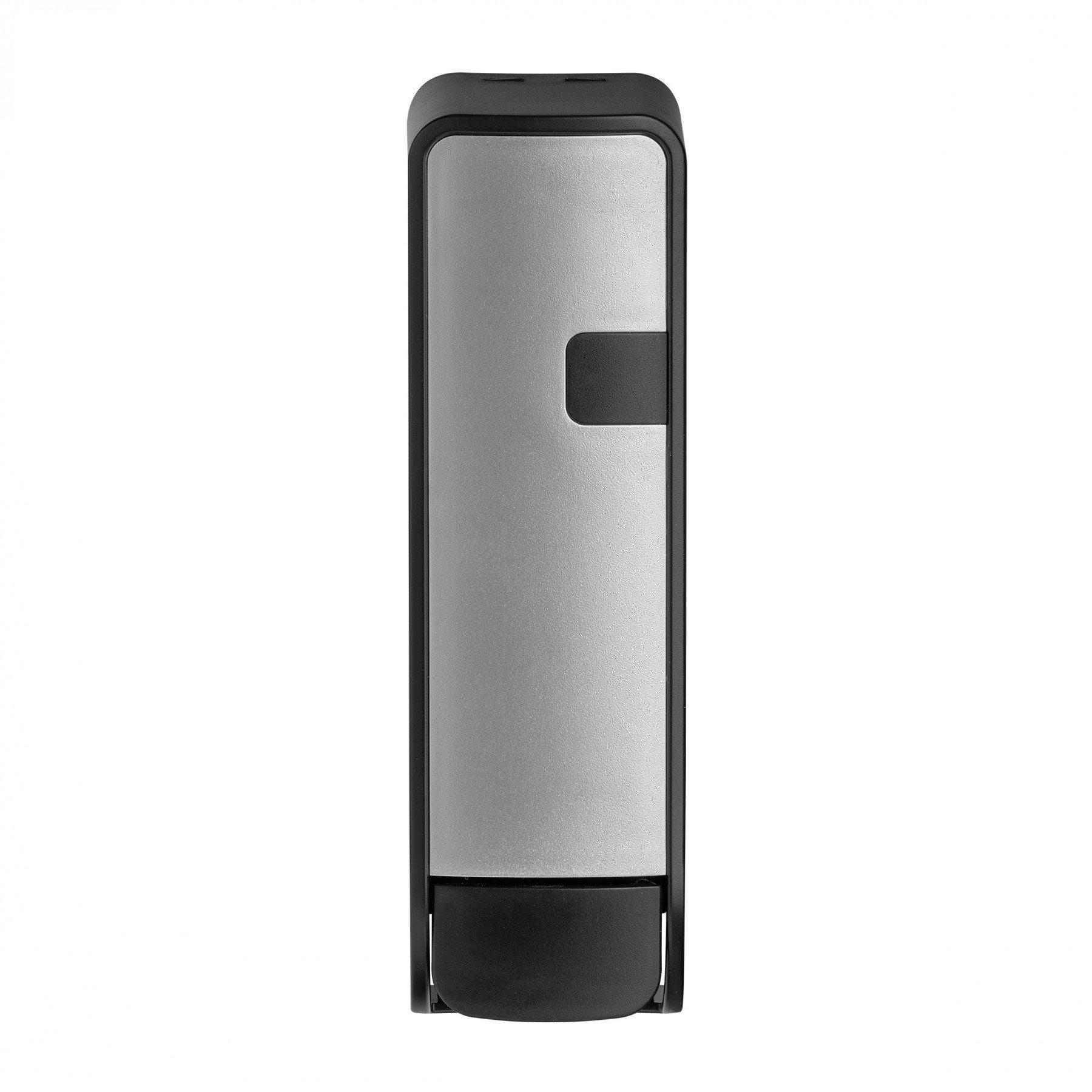 Combodeal | Euro Products Silver Quartz shower zeepdispenser & Euro Products Quartz Hair & Body Soap 8 x 350 ml | Zilver