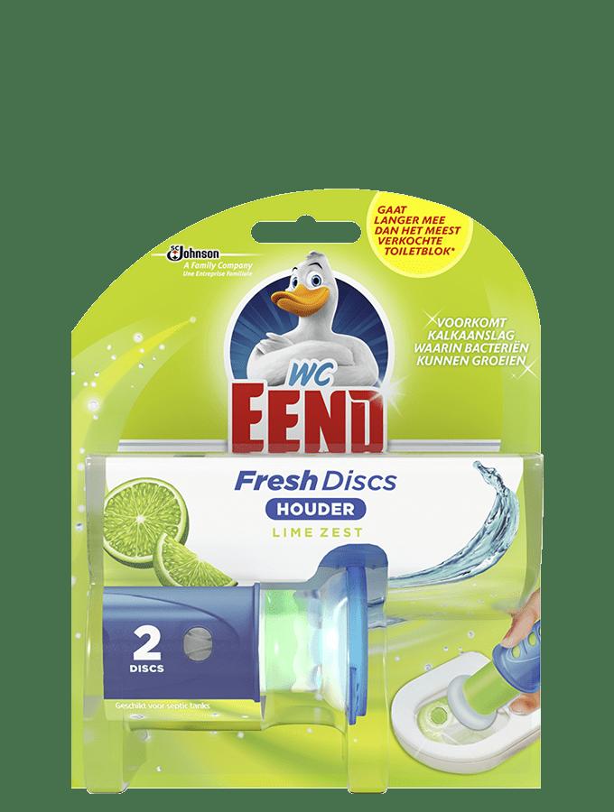 WC eend   Toiletreiniger   Fresh discs   Lime   5x 2 stuks
