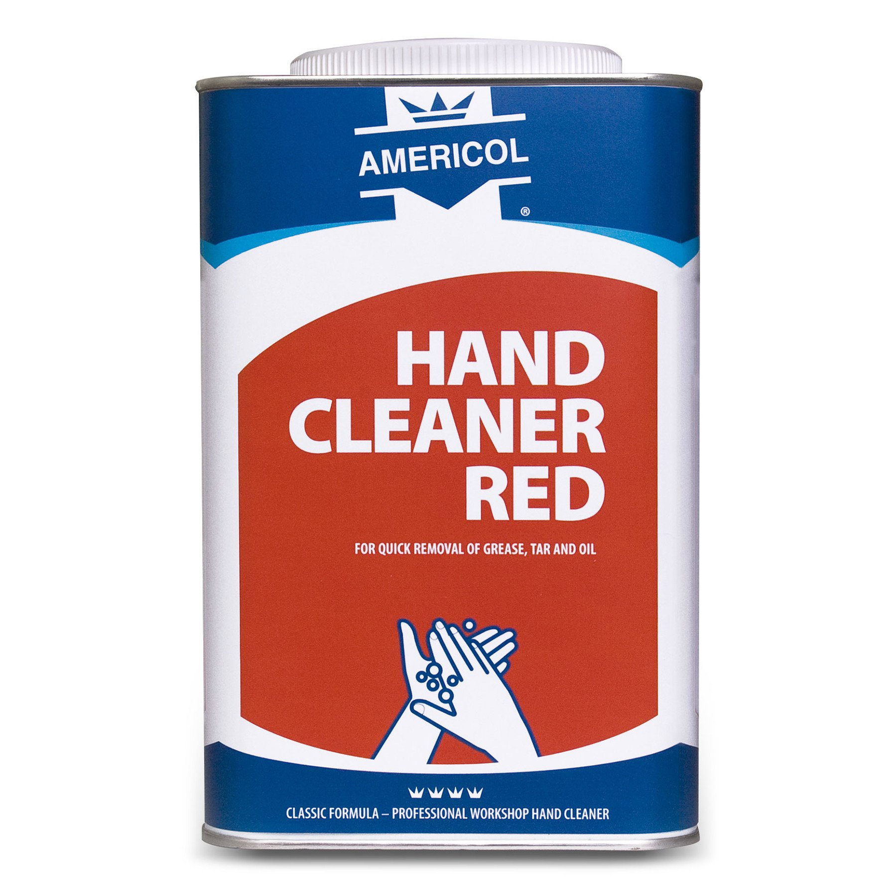 Americol | Hand cleaner | Garagezeep | Rood | Blik 4 x 4,5 liter