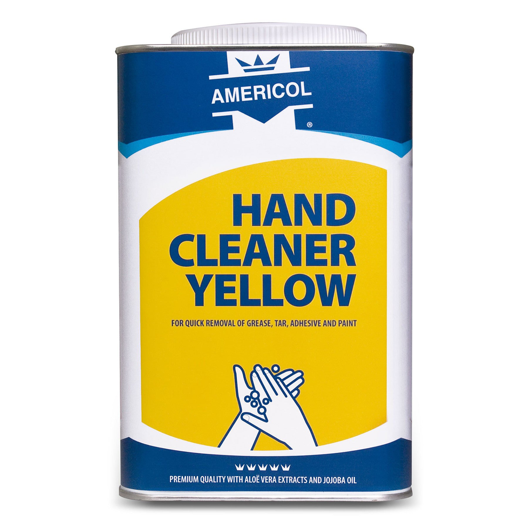 Americol | Hand cleaner | Garagezeep | Geel | Blik 4 x 4,5 liter