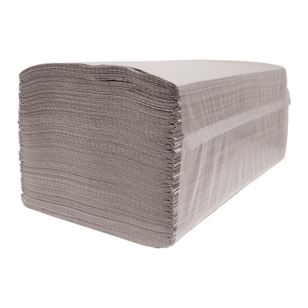 Euro Products | Vouwhanddoekjes 1-laags | Eco naturel | Z-vouw | 23 x 25 cm | 5000 stuks