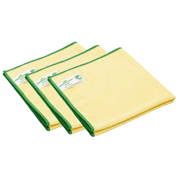 Greenspeed Basic Microvezeldoeken   Geel   10 stuks