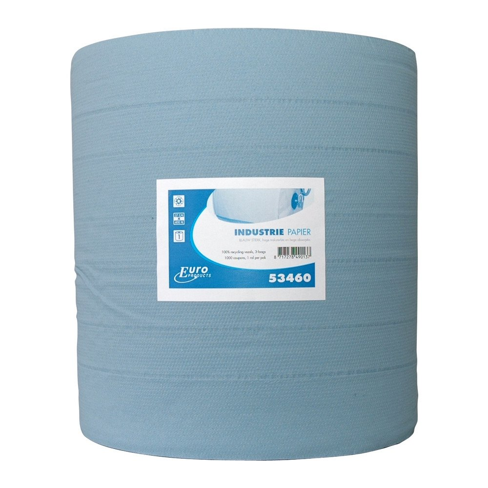 Euro Products | Industriepapier 3- laags | Blauw | 400 meter