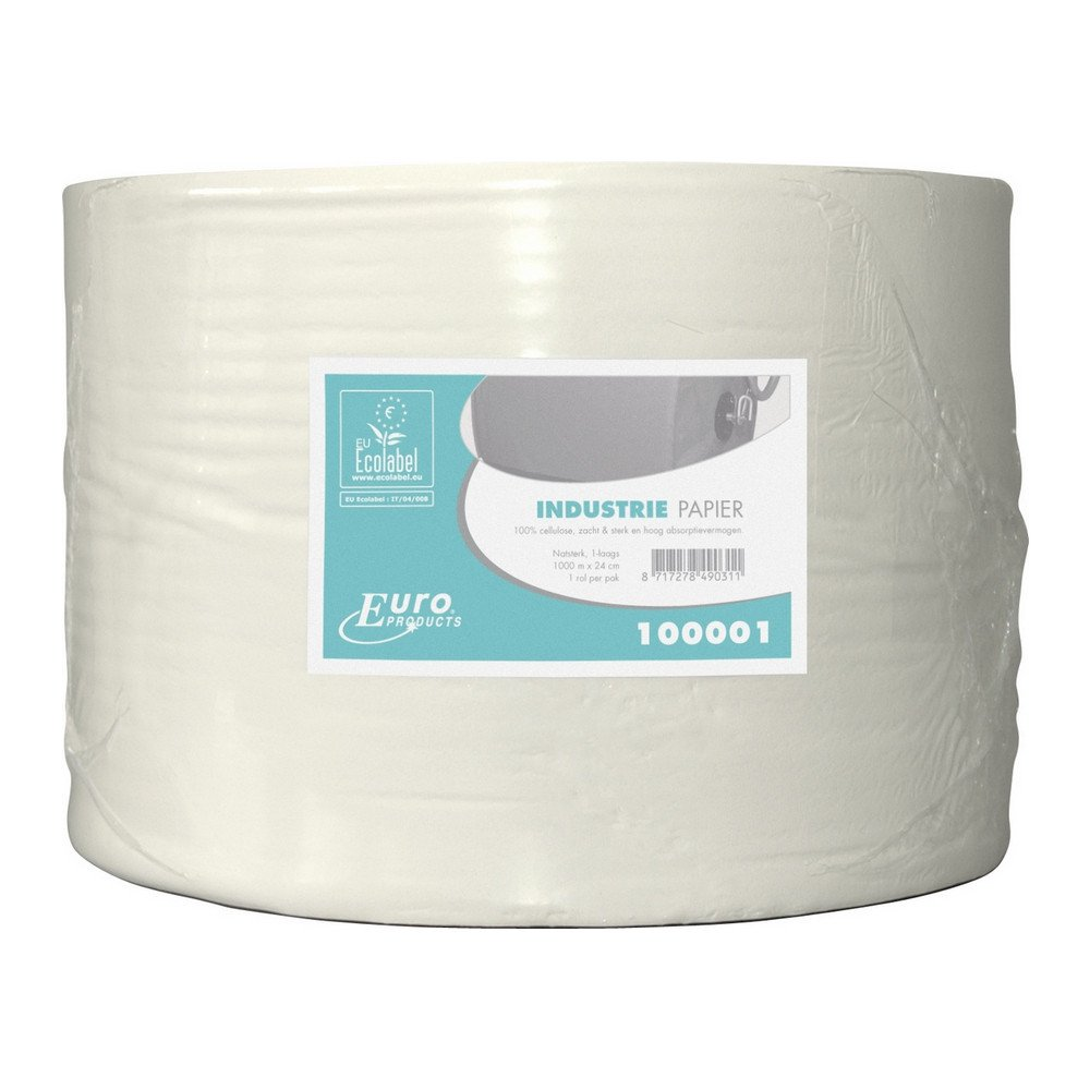 Euro Products | Industriepapier 1- laags | Cellulose Eco | 1000 meter